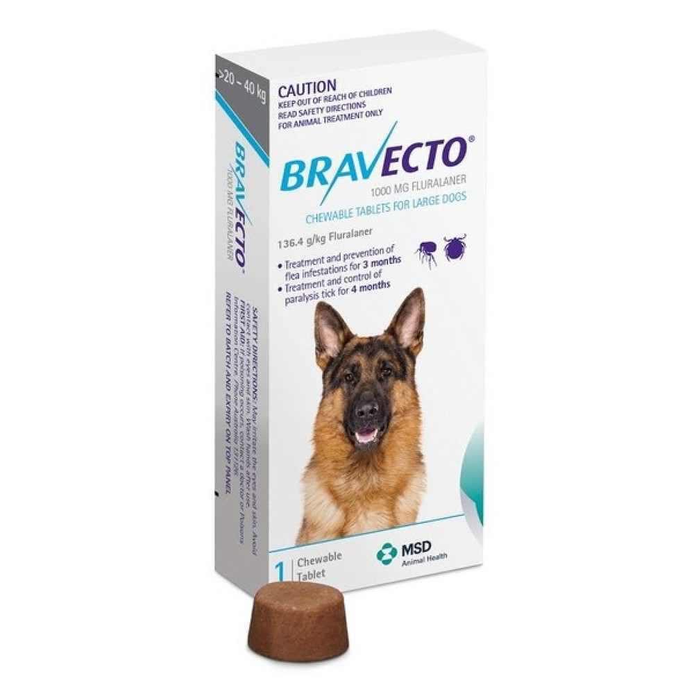 Bravecto 20-40 kg - rágótabletta nagy testű kutyák számára