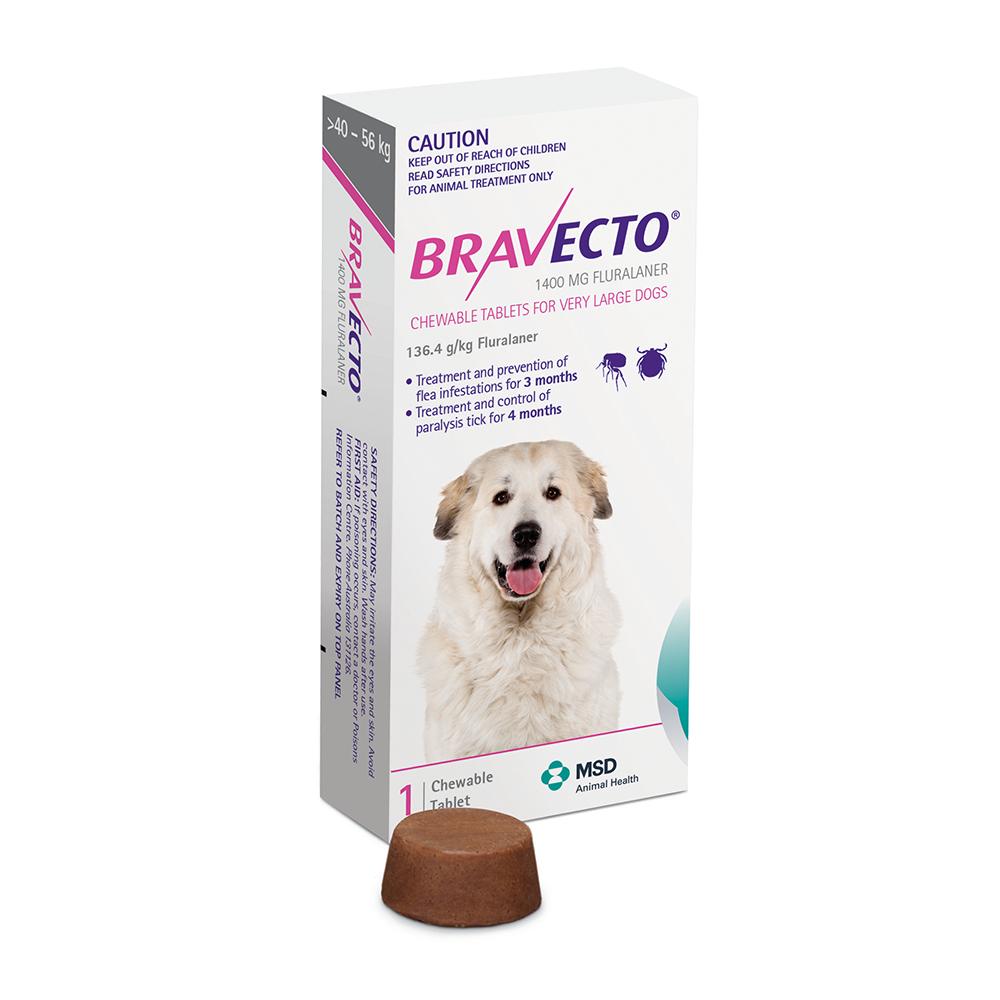 Bravecto 40-56 kg - rágótabletta óriás testű kutyák számára