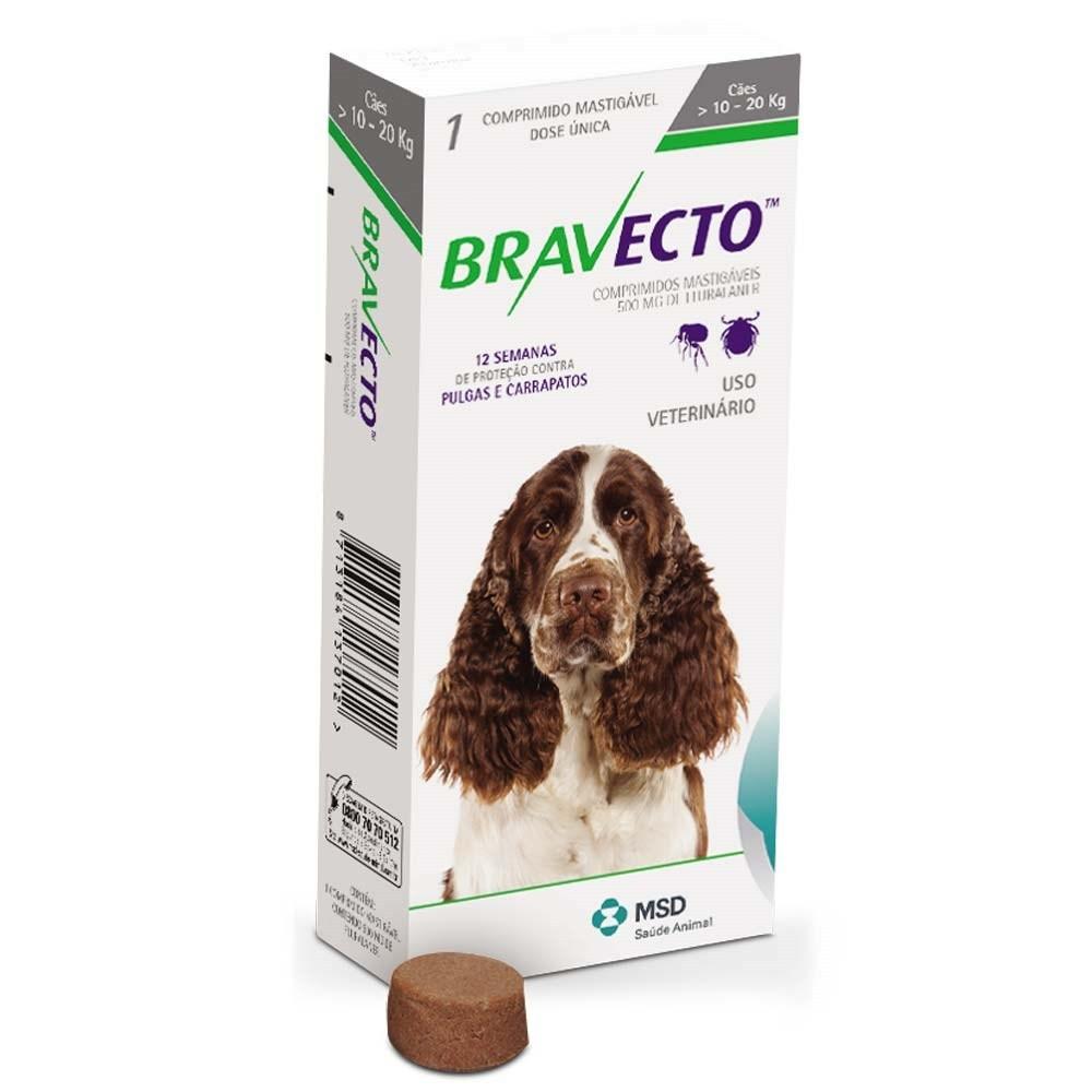 Bravecto 10-20 kg - rágótabletta közepes testű kutyák számára