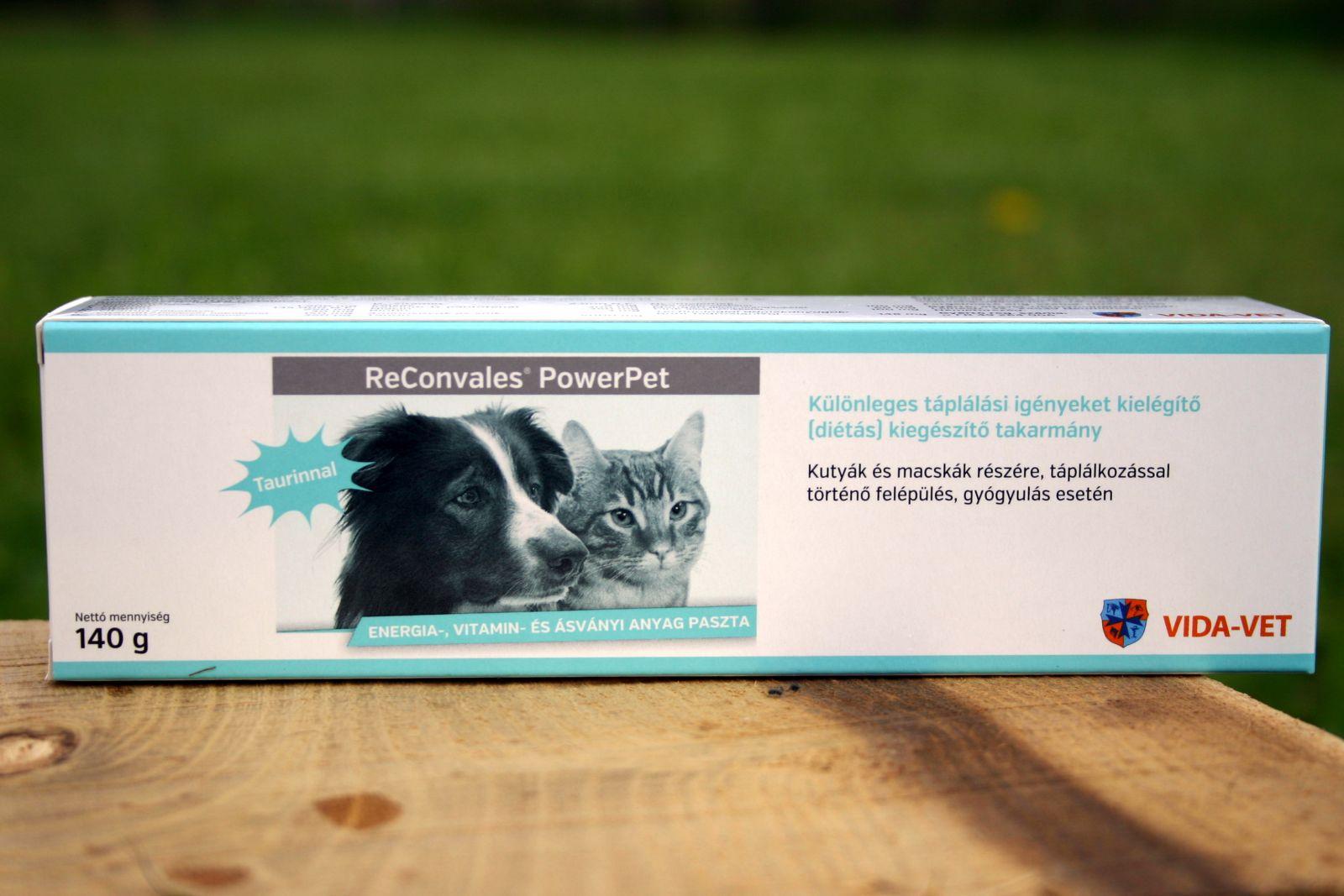 Reconvales® Power 140g - energia és vitamin paszta kutyáknak és macskáknak. Taurinnal