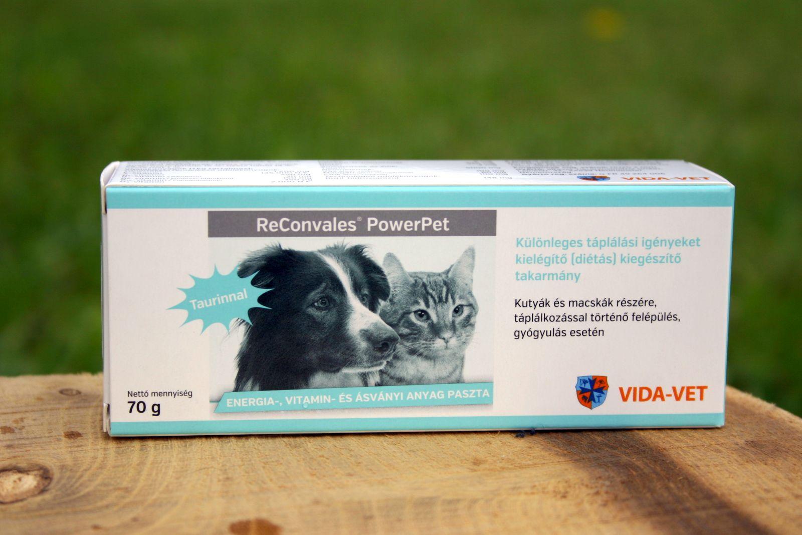 Reconvales® PowerPet 70g - energia és vitamin paszta kutyáknak és macskáknak. Taurinnal