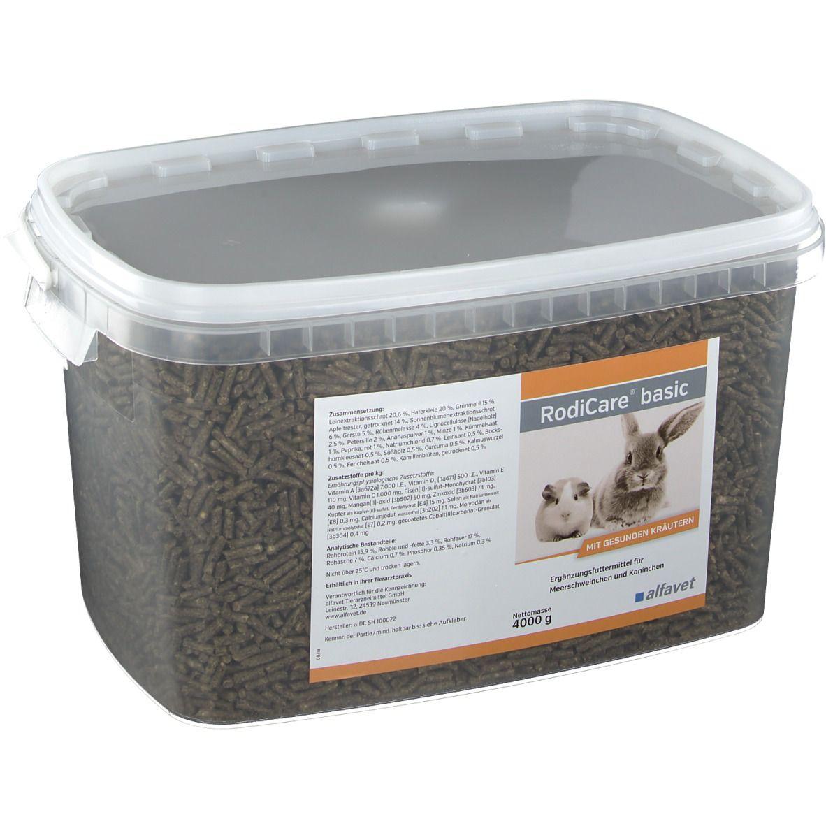 RodiCare® Basic 4kg - emésztést támogató eleség nyulak és tengerimalacok részére